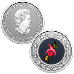 2021 Canada 1/4 oz. Silver $3 Lady Slipper