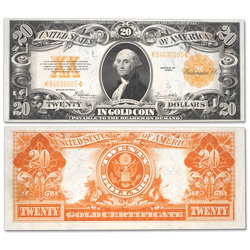 1922 $20 Gold Certificate, Large Size