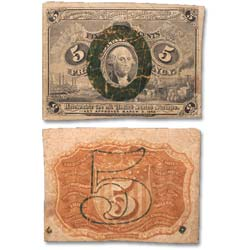 1863-1867 5¢ Fractional Currency Note