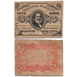 1864-1869 5¢ Fractional Currency Note
