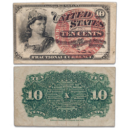 1869-1875 10¢ Fractional Currency Note