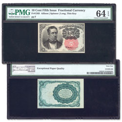 1874-1876 10¢ Fractional Note
