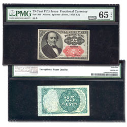 1874-1876 25¢ Fractional Note