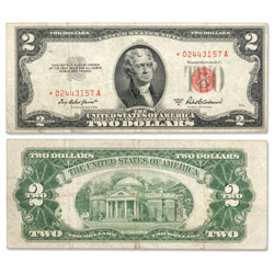 1953A $2 Legal Tender Note, Star Note