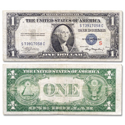 "Series 1935A ""S"" Test $1 Silver Certificate"