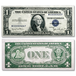 1935D $1 Silver Certificate, Narrow Design