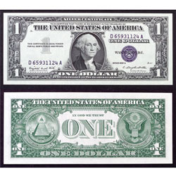 1957 one dollar bill blue seal