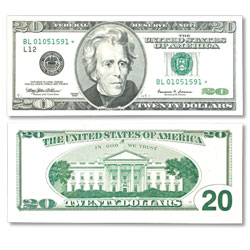 1995 $10 Federal Reserve Star Note, Choice Crisp Uncirculated