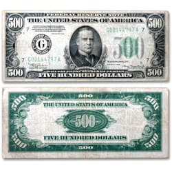 Series 1934 $500 Federal Reserve Note