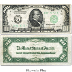 1934 $1,000 Federal Reserve Note - Boston