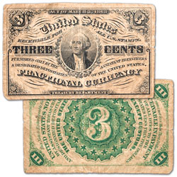1864-1869 3¢ Fractional Note