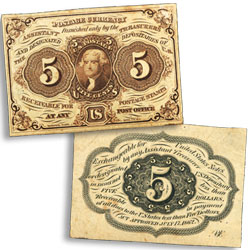 5¢ Fractional Currency Note