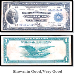 Series 1918 $1 Large Size Federal Reserve Bank Note