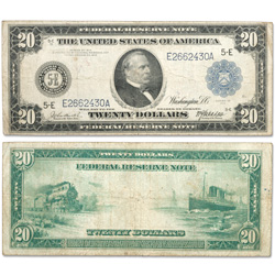 Series 1914 $20 Large Size Federal Reserve Note
