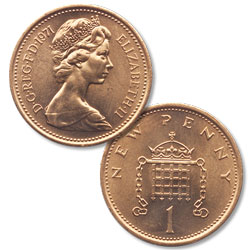 1971 Great Britain Bronze Penny