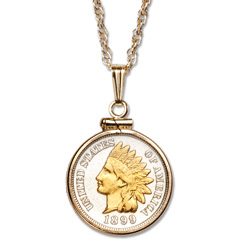 Jewelry littleton coin company indian head cent necklace aloadofball Choice Image