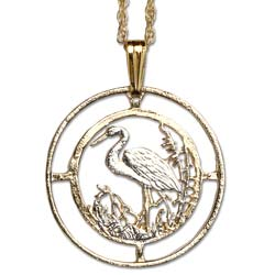 Stork Cut Coin Necklace