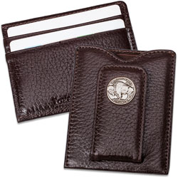 Buffalo Nickel Money Clip - Brown