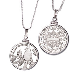 Cardinal Silver Round Necklace