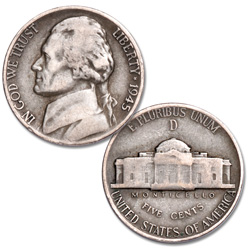 Jefferson Wartime Nickel