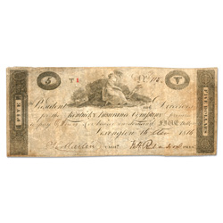 1814-1816 $5 Kentucky Insurance Company Bank Note