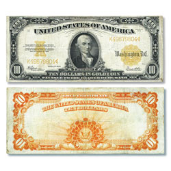Series 1907-1922 $10 Gold Certificate