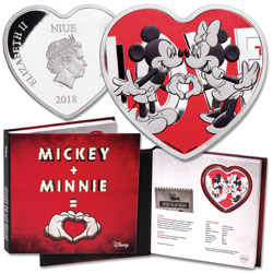 2018 Niue 1 oz. Silver $2 Disney Love - Mickey & Minnie
