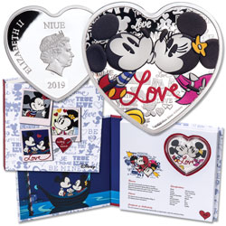 2019 Niue 1 oz. $2 Silver Disney Love