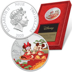 2020 Niue 1 oz. Silver $2 Mickey Year of the Mouse - Good Fortune