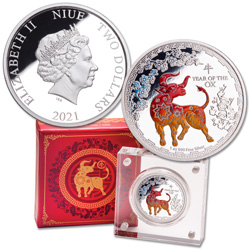 2021 Niue 1 oz. Silver $2 Year of the Ox