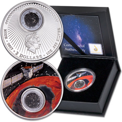 2017 Niue Silver $5 Mission to Mars with Box