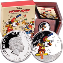 2016 Niue 1 oz. Silver $2 Mickey Mouse