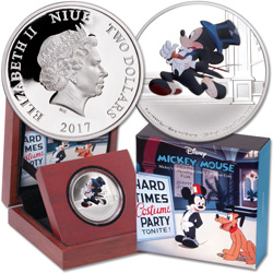 2017 Niue 1 oz. Silver $2 Mickey Through the Ages - Delayed Date