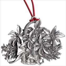 Poinsettias Pewter Ornament