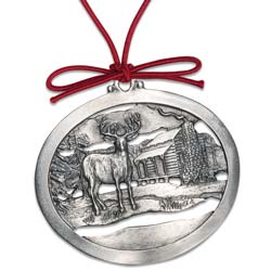 Winter Peace Pewter Ornament