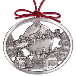 Over the Rooftops Pewter Ornament