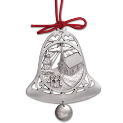 Church Bell Pewter Ornament