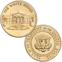 Gold-Plated White House Medal
