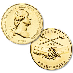 Gold-Plated George Washington Medal