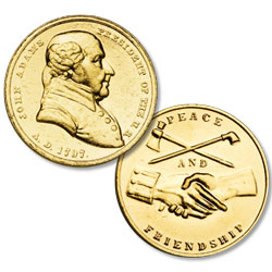 Gold-Plated John Adams Medal