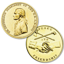 Gold-Plated Thomas Jefferson Medal
