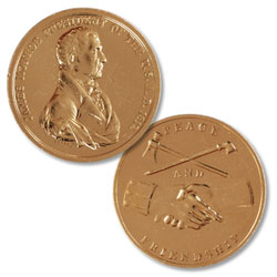 Gold-Plated James Monroe Medal