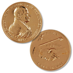 Gold-Plated John Q. Adams Medal