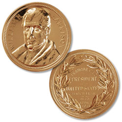 Gold-Plated William Henry Harrison Medal