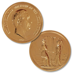 Gold-Plated Millard Fillmore Medal