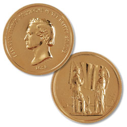 Gold-Plated Franklin Pierce Medal