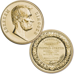 Gold-Plated Abraham Lincoln Medal