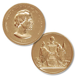Gold-Plated Andrew Johnson Medal