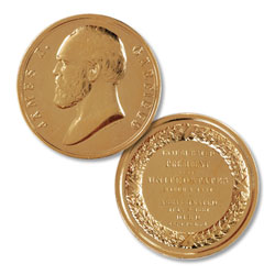 Gold-Plated James A. Garfield Medal