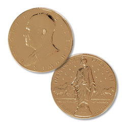Gold-Plated Dwight D. Eisenhower Medal